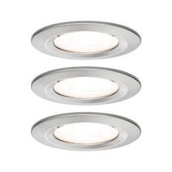 Image of Paulmann Nova Bad-Einbauleuchte 3er Set LED GU10 19.5 W IP44 Edelstahl