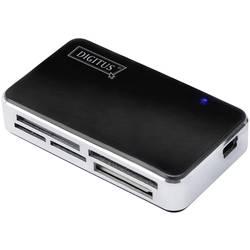 Externá čítačka pamäťových kariet Digitus DA-70322-1, USB 2.0, čierna, strieborná