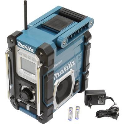 Makita DMR108 UKW Baustellenradio AUX, Bluetooth® spritzwassergeschützt Türkis, Schwarz Preisvergleich