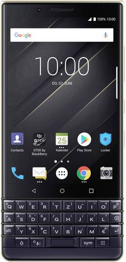 Image of BlackBerry KEY 2 LE Smartphone Dual-SIM 64 GB 11.4 cm (4.5 Zoll) 13 Mio. Pixel Android™ 8.1 Oreo Champagner