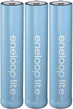 Akumulátor AAA Ni-MH Panasonic eneloop Lite HR03, 550 mAh, 1.2 V, 3 ks