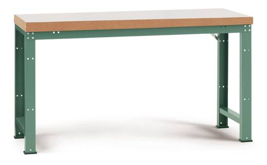 Manuflex WP3021.7035 Grund-Werkbank PROFI,1750x700x840mm Platte Linoleum 40mm Umleimer Dekor Multiplex RAL7035 lichtgrau