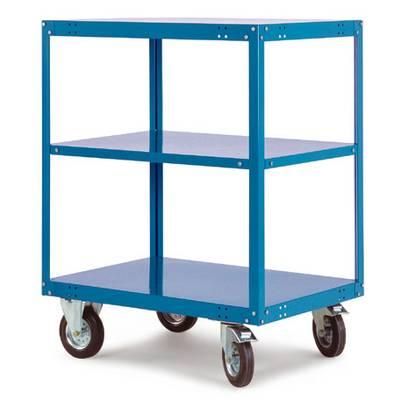Regalwagen Stahl pulverbeschichtet Traglast (max.): 400 kg Wasserblau Manuflex TT4062.5021 Preisvergleich