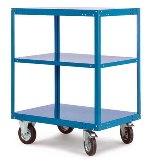 Regalwagen Stahl pulverbeschichtet Traglast (max.): 400 kg Licht-Grau Manuflex TT4052.7035