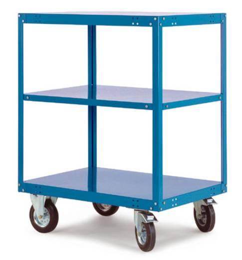 Regalwagen Stahl pulverbeschichtet Traglast (max.): 400 kg Wasserblau Manuflex TT4032.5021