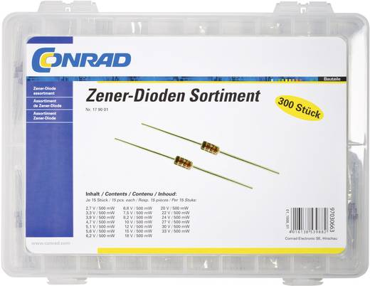 Zener-Dioden-Sortiment Conrad Components 179001 300 St.