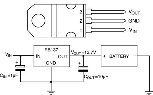 PMIC - Spannungsregler - Linear (LDO) STMicroelectronics PB137ACV Positiv, Fest TO-220AB