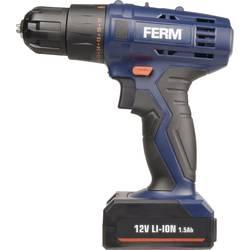 Aku vŕtací skrutkovač Ferm CDM1119 CDM1119, 12 V, 1.5 Ah, Li-Ion akumulátor