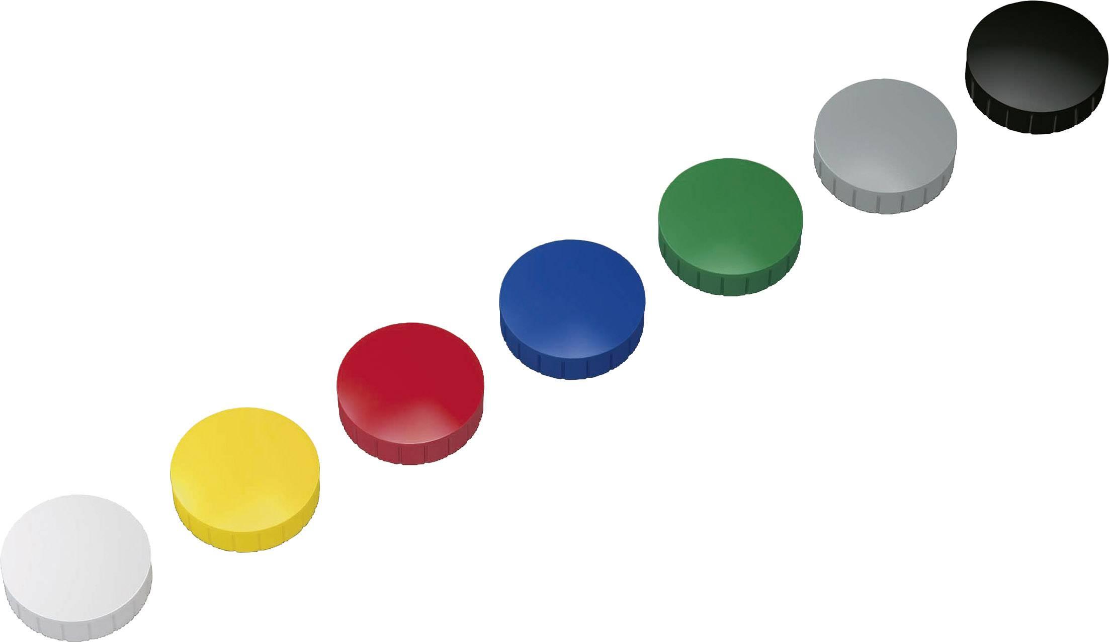 Haftmagnete rund 15mm in schwarz rot blau grün gelb weiß