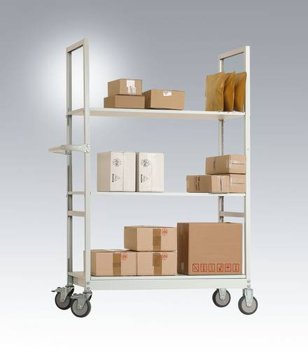Kartonagenwagen Stahl pulverbeschichtet Traglast (max.): 250 kg Anthrazit Manuflex AS1401.7016