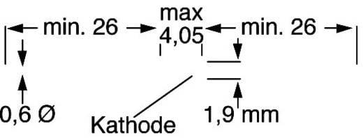 Z-Diode ZPD13V Gehäuseart (Halbleiter) DO-35 Diotec Zener-Spannung 13 V Leistung (max) P(TOT) 517 mW