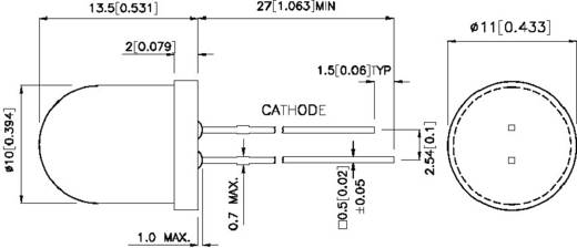 LED bedrahtet Gelb Rund 10 mm 30 mcd 60 ° 20 mA Kingbright L-816BYD