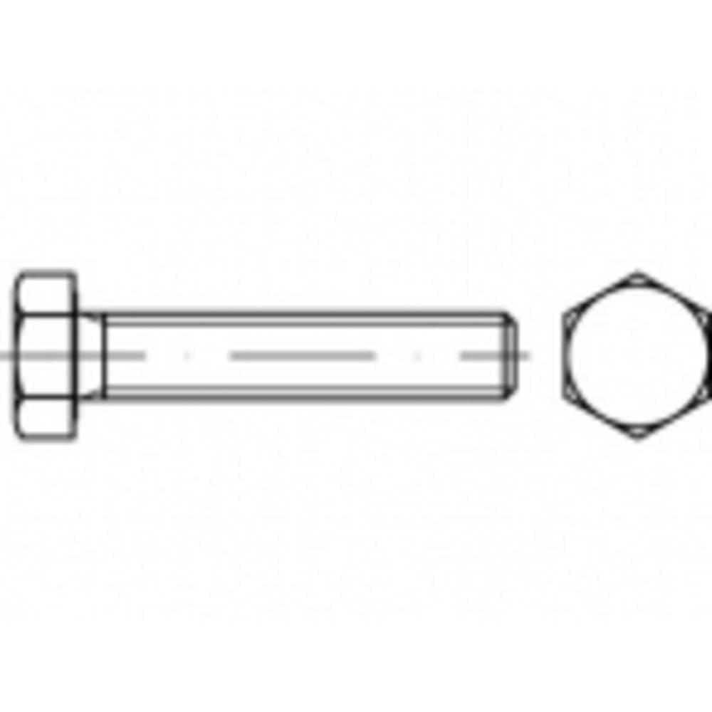 Vis hexagonales M6 x 140 mm TOOLCRAFT TO-5408487 6 pans extérieurs ISO 4017 100 pc(s)