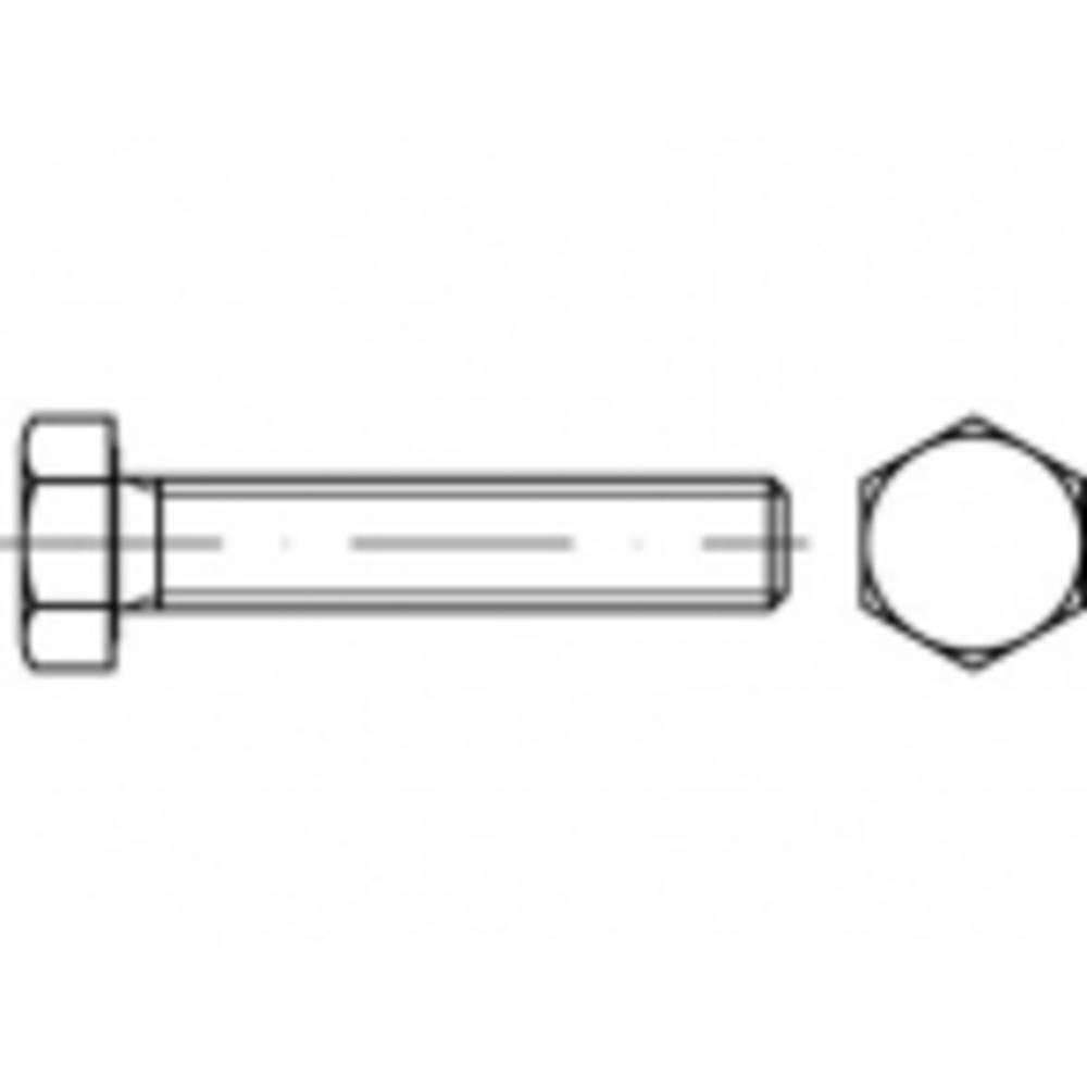 Vis hexagonales M8 x 60 mm TOOLCRAFT TO-5408565 6 pans extérieurs ISO 4017 200 pc(s)