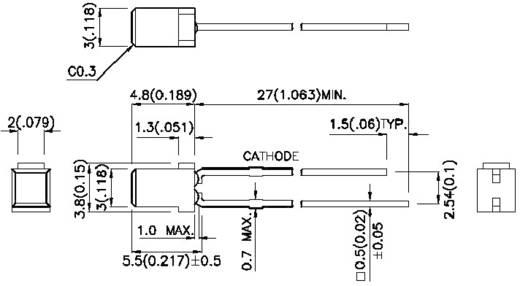 LED bedrahtet Grün Quadratisch 3 x 3 mm 5 mcd 110 ° 20 mA 2.2 V Kingbright L-714GDT