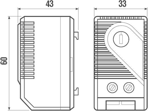 Schaltschrankheizungs-Thermostat 7T.91.0.000.2303 Finder 250 V/AC 1 Schließer (L x B x H) 60 x 33 x 43 mm