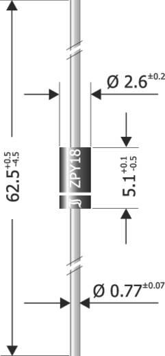 Diotec Z-Diode ZPY6.2 Gehäuseart (Halbleiter) DO-41 Zener-Spannung 6.2 V Leistung (max) P(TOT) 1.3 W