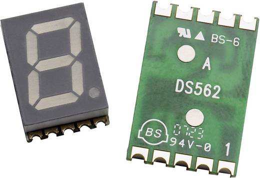 Broadcom 7-Segment-Anzeige Grün 14.22 mm 2.1 V Ziffernanzahl: 1 HDSM-531H