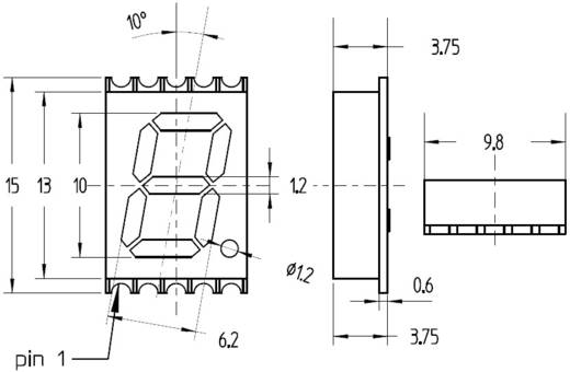 Broadcom 7-Segment-Anzeige Orange 10 mm 2.1 V Ziffernanzahl: 1 HDSM-433L