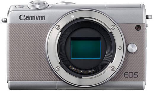 Systemkamera Canon Canon EOS M100 Body grau Gehäuse (Body), inkl. Akku 25.8 Mio. Pixel Grau Bluetooth, Full HD Video, W