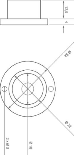 HighPower-LED-Modul Warm-Weiß 1 W 66 lm 10 ° 2.8 V ledxon 9009136
