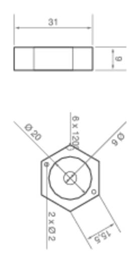 HighPower-LED-Modul Warm-Weiß 1 W 66 lm 110 ° 2.8 V ledxon 9008003