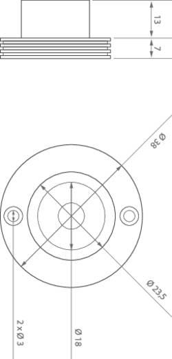 ledxon 9008095 HighPower-LED-Modul Kalt-Weiß 3 W 146 lm 10 ° 3.1 V