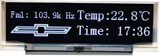 OLED-Display Blau Schwarz (B x H x T) 88 x 27.8 x 2.2 mm VGB25664A-S001