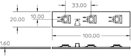 HighPower-LED Kalt-Weiß 1 W, 1 W, 1 W 180 lm 110 ° 3.6 V 350 mA Broadcom ADJD-WM01-NKKZ0