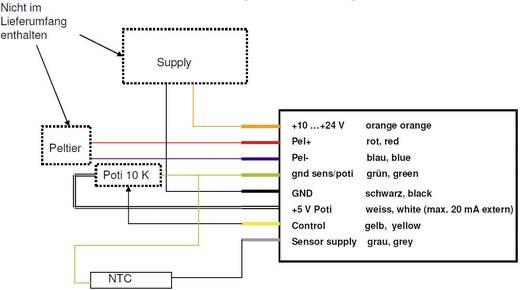 Peltier-Controller 12 V 10 A (L x B x H) 65 x 50 x 20 mm QuickCool QC-PC-C01C