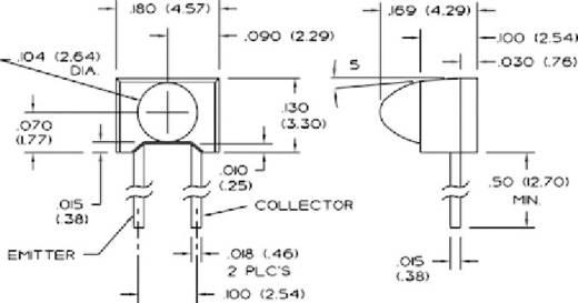 Fototransistor 4.57 x 3.3 mm Honeywell SDP8436-003