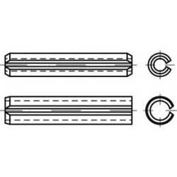 TOOLCRAFT DIN 7346, pružinová ocel, upínací kolíky (upínací), lehké provedení, rozměry: 16 x 55 50 ks