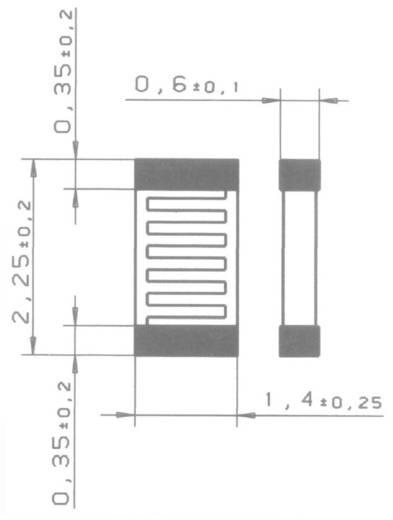 Heraeus SMD 0805 V PT1000 Platin-Temperatursensor -50 bis +130 °C SMD