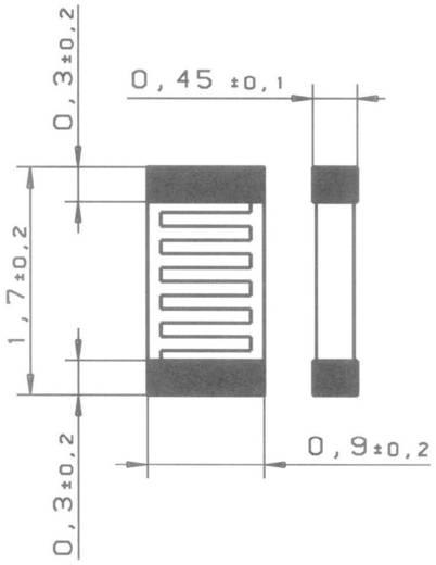 PT1000 Platin-Temperatursensor Heraeus SMD 0603 V -50 bis +130 °C SMD