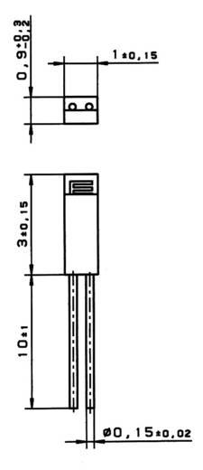 PT1000 Temperatursensor Heraeus M310 -70 bis +500 °C radial bedrahtet