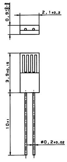 Heraeus M422 PT100 Temperatursensor -70 bis +500 °C radial bedrahtet