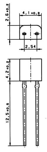 PT1000 Platin-Temperatursensor Heraeus TO92 PT 1000 KL. B -50 bis +150 °C TO-92 radial bedrahtet