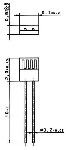 PT1000 Temperatursensor Heraeus M222 -70 bis +500 °C radial bedrahtet
