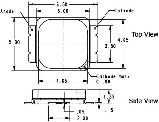 HighPower-LED Kalt-Weiß 1 W 107 lm 120 ° 3.3 V 350 mA CREE MX6AWT-A1-0000-000D51