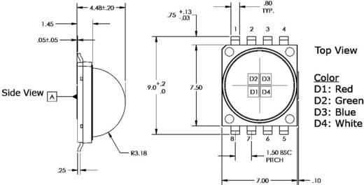 HighPower-LED Kalt-Weiß 430 lm 110 ° 3.2 V 350 mA CREE MCE4WT-A2-0000-000M01