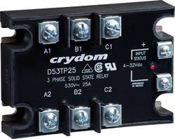 Polovodičové relé 3fázové 25 A/50 A Crydom D53TP25D, 25 A
