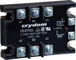 Polovodičové relé 3fázové 25 A/50 A Crydom D53TP50D, 50 A