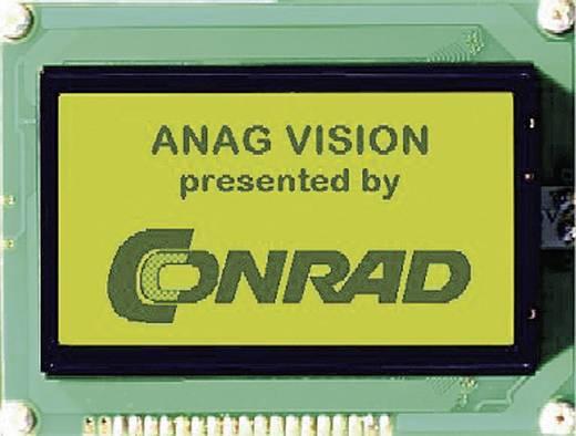 Grafik-Display Grün Gelb-Grün (B x H x T) 93 x 70 x 13.6 mm Anag Vision AV128641YFBY-WSV