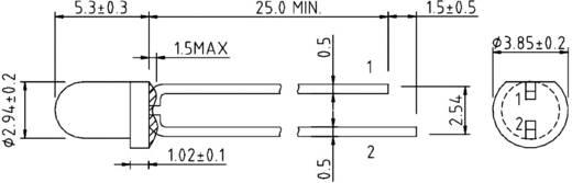IR-Emitter 850 nm 20 ° 3 mm radial bedrahtet Harvatek HE1-120AC