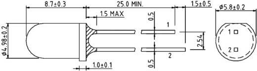 IR-Emitter 850 nm 20 ° 5 mm radial bedrahtet Harvatek HE1-220AC