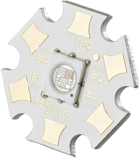 HighPower-LED RGB 1 W, 1 W, 1 W 13 lm, 35 lm, 57 lm 120 ° 2.6 V, 3.8 V, 3.6 V 350 mA, 350 mA, 350 mA Seoul Semiconduc
