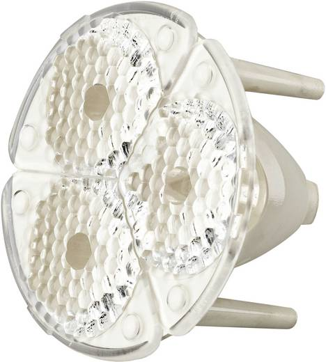 LED-Optik Klar, Geriffelt Transparent, Weiß 25 ° Anzahl LEDs (max.): 3 Für LED: Seoul Semiconductor® RGB-LED P5II Barth