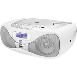 FM CD rádio Dual DAB-P 160, AUX, CD, FM, USB, bílá
