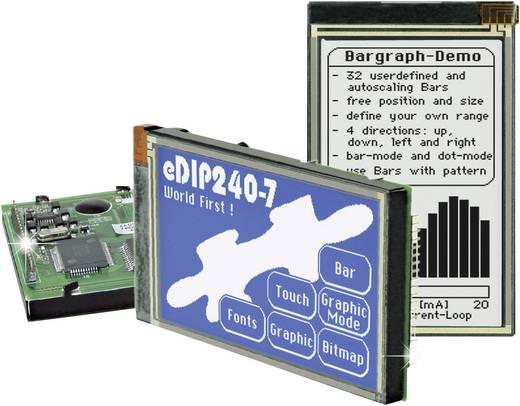 Grafik-Display Weiß Blau (B x H x T) 113 x 70 x 12 mm EA eDIP240B-7LWTP