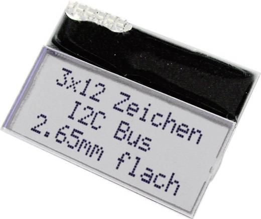 LC-Display Schwarz Weiß (B x H x T) 46 x 33 x 2.85 mm EA T123W-I2C